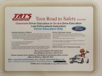 Teen road to Safety Driver Education Course!  4 days with 30 hours of instruction (Hybrid model)